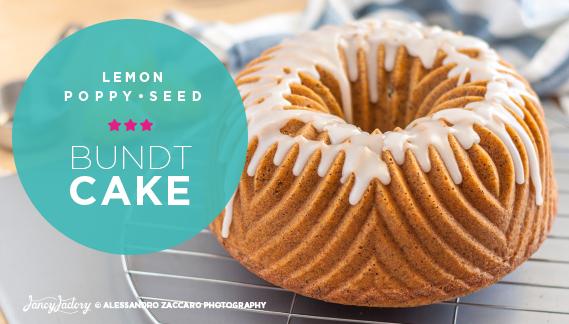 ciambellone al limone e semi di papavero • lemon poppy seed bundt cake