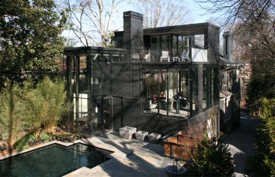 Ansley park luxury design by glass house bldgs architects for Luxury glass homes