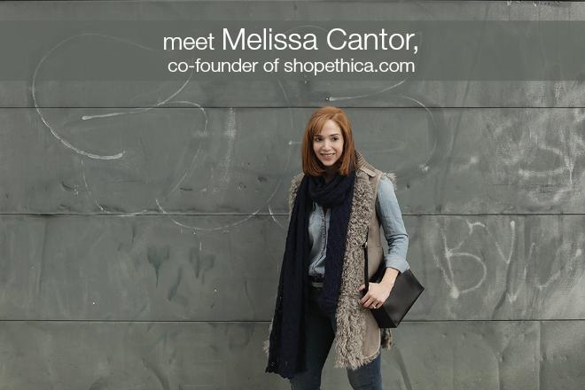 shop ethica founder, melissa cantor