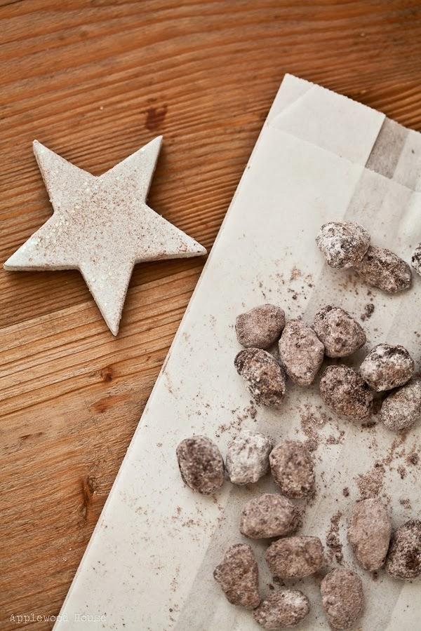 selbstgemachte Weihnachtsmandeln Zimt Schokolade
