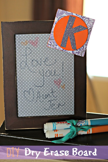 DIY Dry Erase Board #gifts #kids