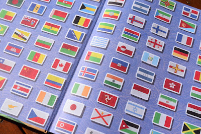 National Flag endpapers from Lonely Planet Kids Amazing World Atlas