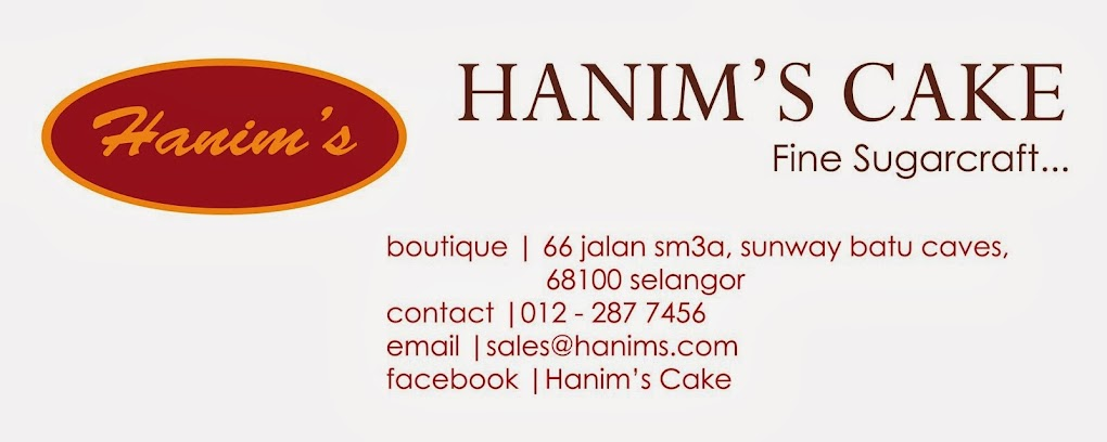 Selamat Datang ke Butik Seni Hiasan Kek Hanim's Cake