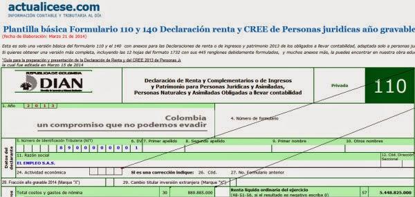 EXCEL EN LA CONTADURIA PÚBLICA: [Liquidador] Formulario 110 y 140 ...