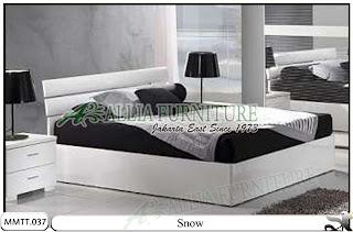 Tempat tidur modern minimalis snow