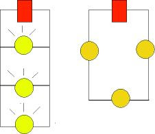 how to connect 3 bulbs in series
