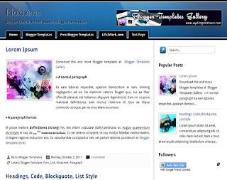Nolaxime Blogger Template