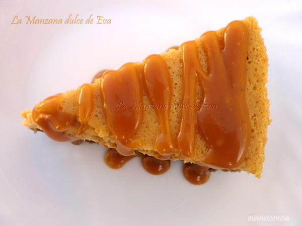 tarta de queso y calabaza vista desde arriba