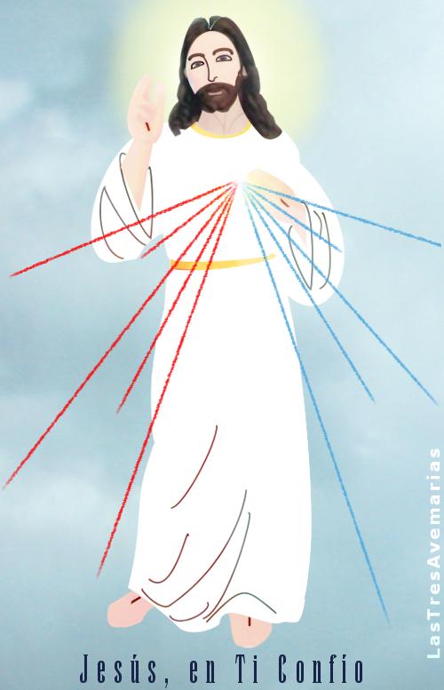 foto de la divina misericordia en forma de caricatura