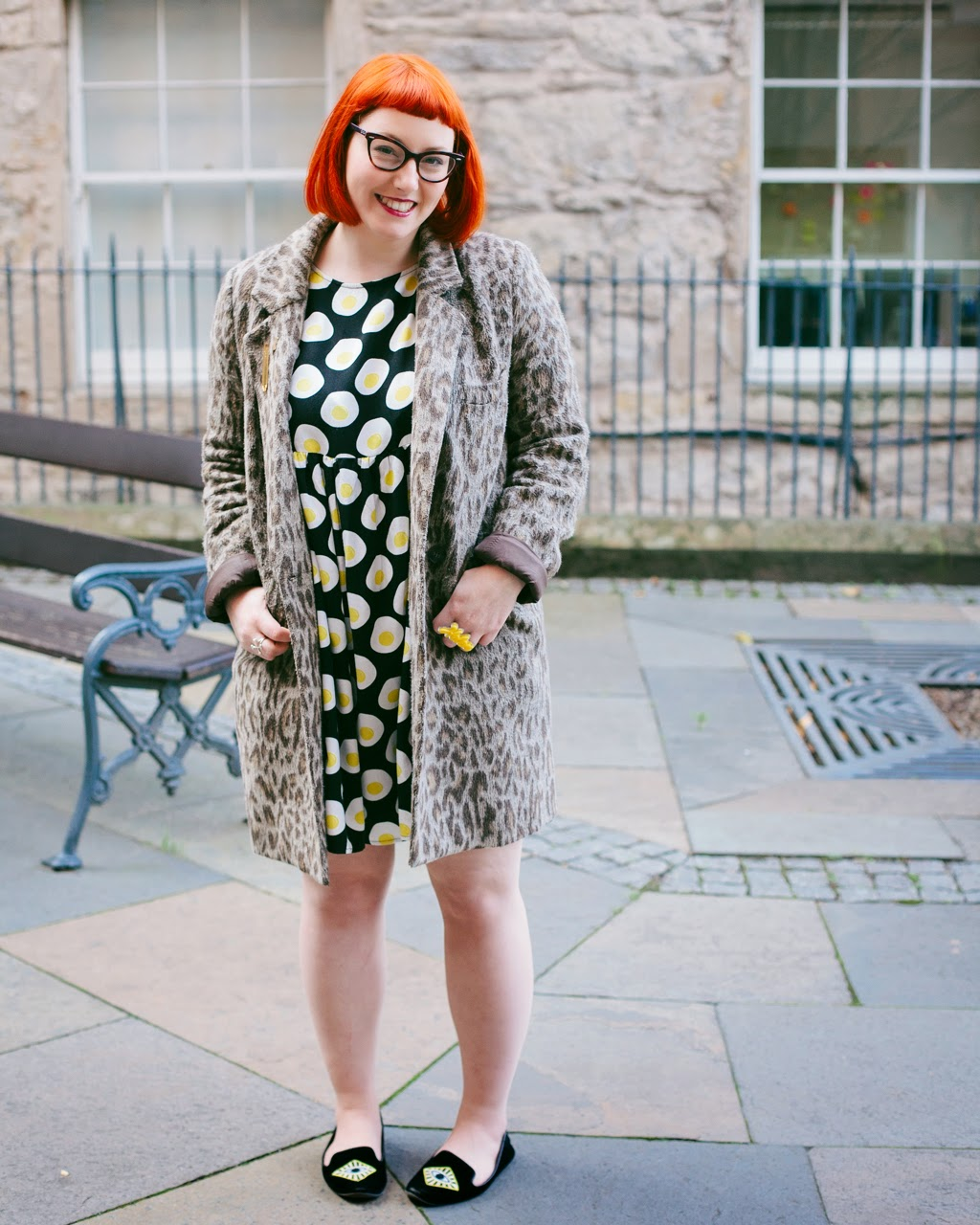 Edinburgh Blogger, Scottish Blogger, Mint and Chillies, Ginger, Red Head, cat eye glasses, The Whitepepper egg dress, leopard print, Edinburgh, Edinburgh Blogger Project