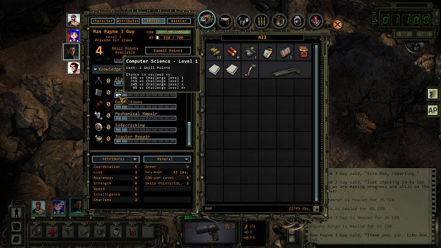 Wasteland 2 level up skills screenshot