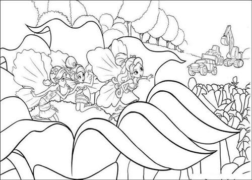 Barbie Thumbelina Coloring Pages Color Udin