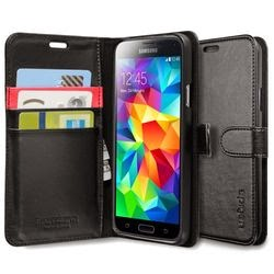 Galaxy S5 Case, Spigen® [Stand Feature] Samsung Galaxy S5 Case Wallet [Wallet S] [Black] *2-Year Warranty* Premium Slim Wallet Case with STAND Flip Cover for Galaxy S5 / Galaxy SV / Galaxy S V (2014) - ECO-Friendly Packaging - Black (SGP10818)