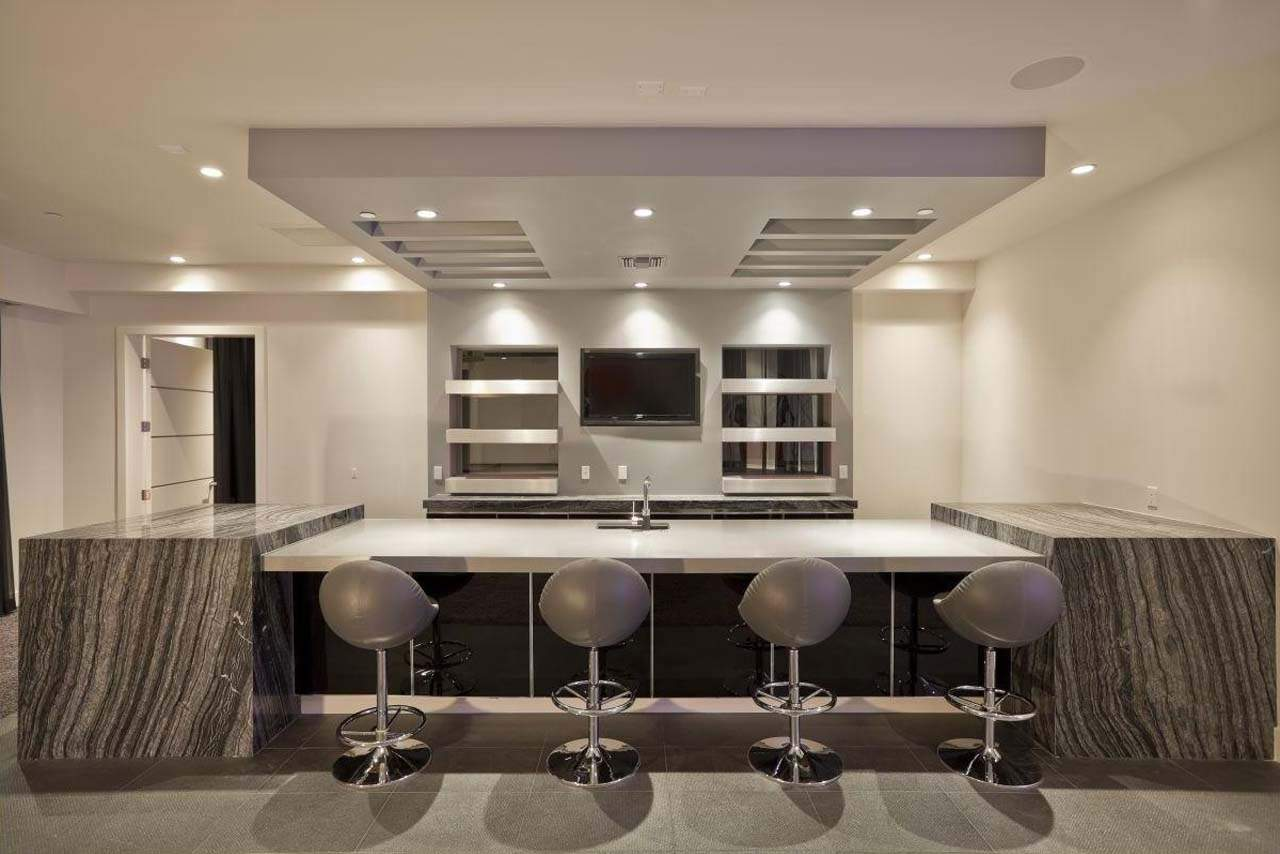 Modern Basement Bar Designs