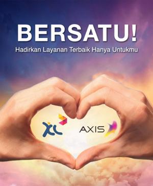 xl dan axis bersatu