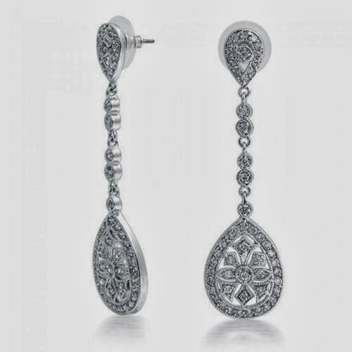nadri earrings great gatsby bling jewelry bridal art deco