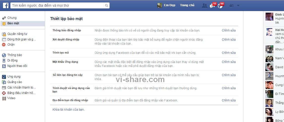 Cách khóa tài khoản Facebook tạm thời