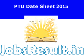PTU Date Sheet 2015
