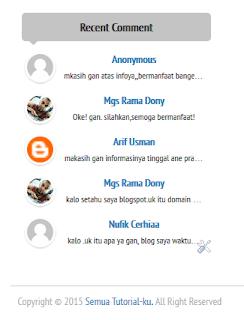 Cara Membuat Recent Comment v3 Blogger Keren