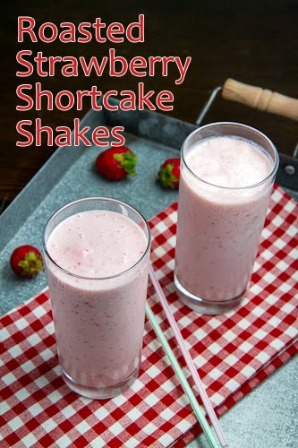 Roasted Strawberry Shortcake Shakes on Closet Cooking