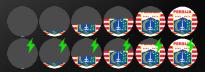 Icon dan logo unik baterai Android Persija