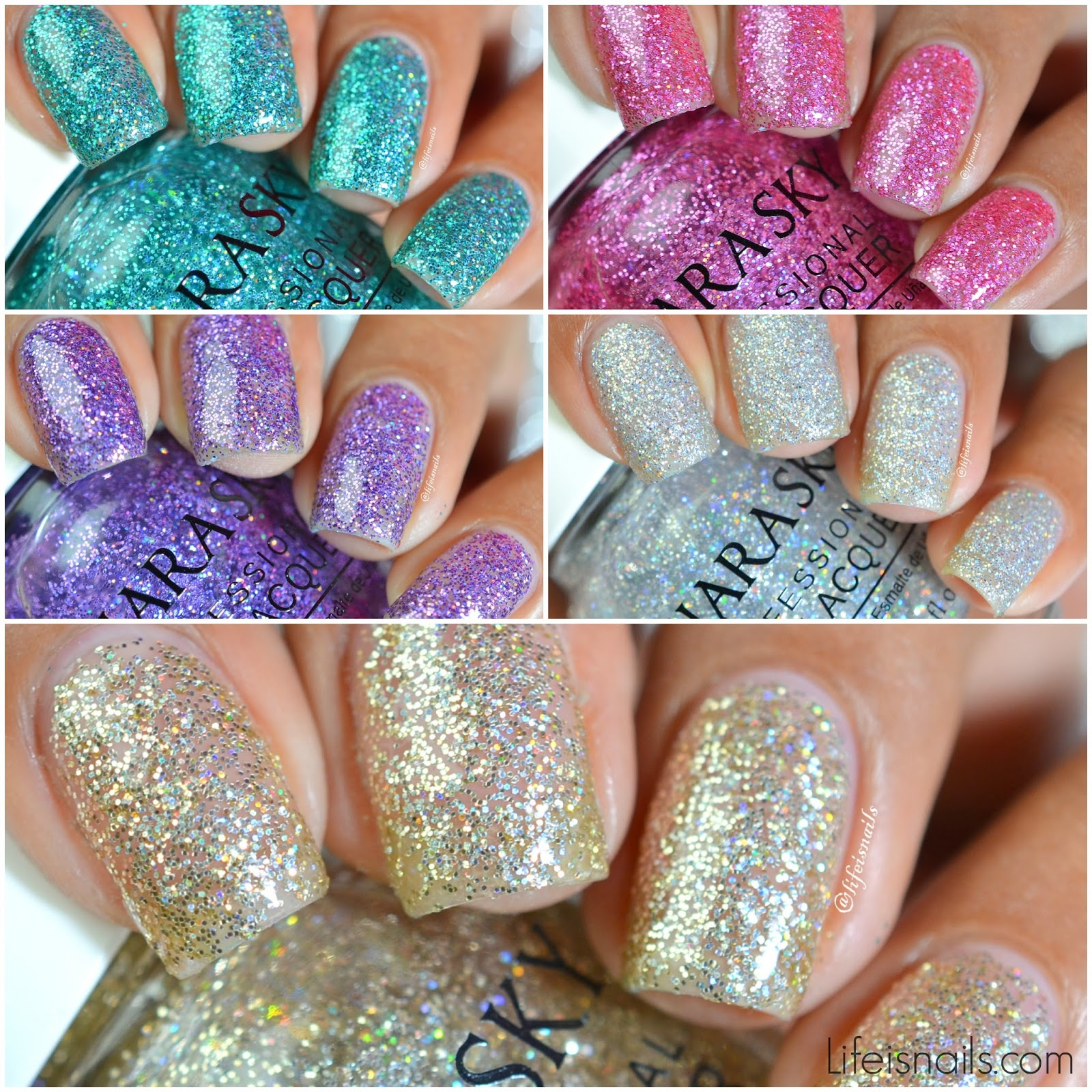 Kiara Sky City Lights Collection - Swatches And Review ~ Lifeisnails