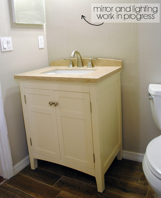 Bathroom Remodel Limestone Vanity