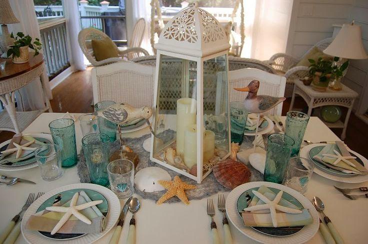 Beautiful Bridal Beach Wedding Table Settings