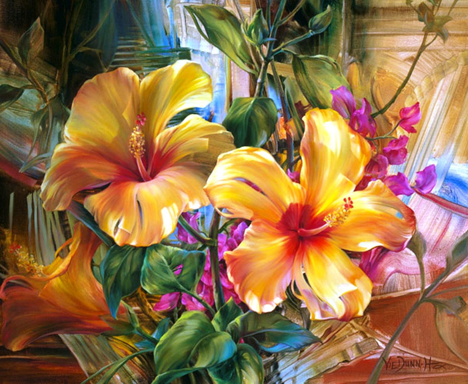 Cuadros modernos pinturas y dibujos pinturas de flores - Cuadros flores modernas ...