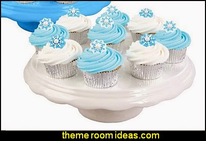 Edible Snowflake Sugar Decorations Disney Movie Frozen Party Favors Cupcake