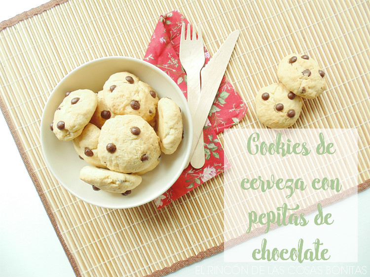 cookies de cerveza con chocolate