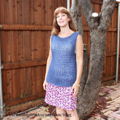 Lace knit sleeveless tunic @ Kimberlee Korner