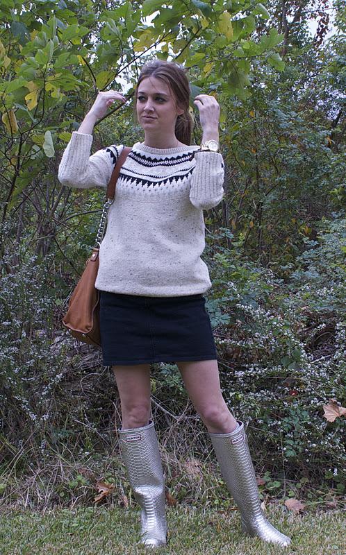 postagious: Fair Isle + Hunter boots