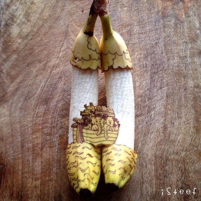 imaginative banana artwork by Stephan Brusche