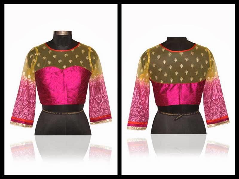 designer net saree blouse design sarees villa