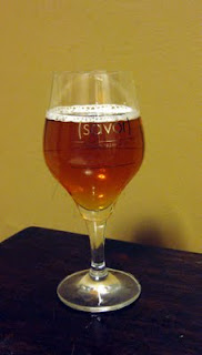 I really like the SAVOR glasses this year, especially for this golden sour ale.