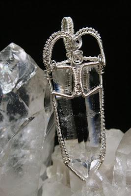 Large Healing Quartz Crystal Pendant