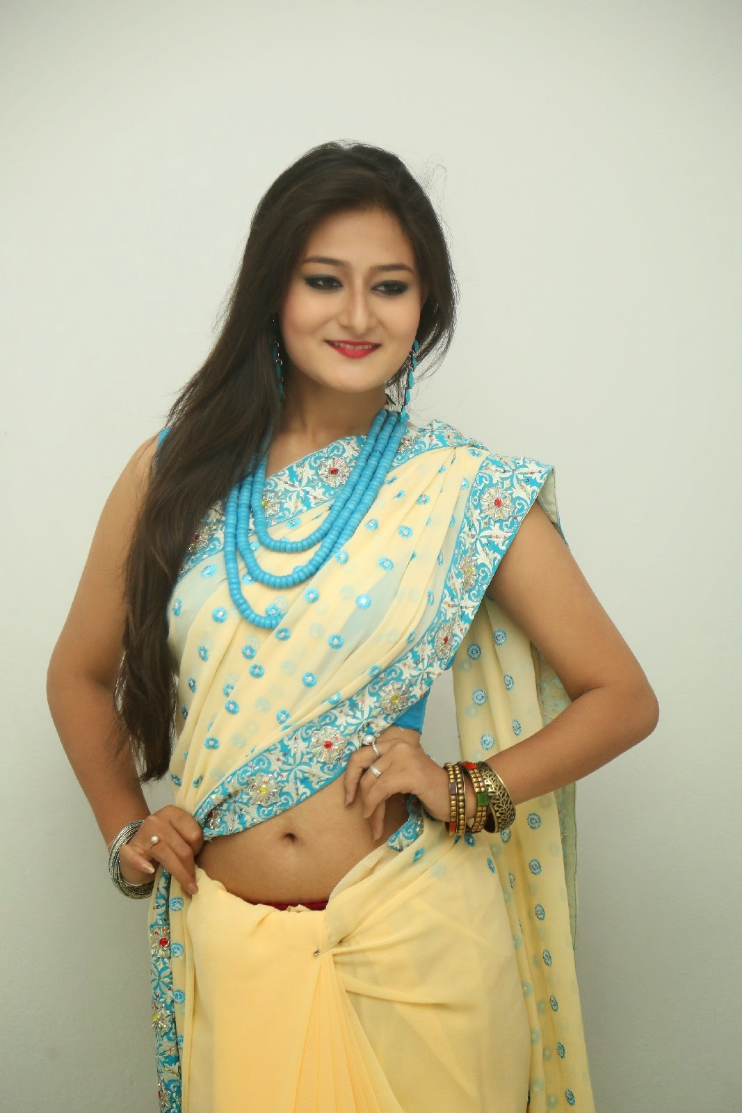 Nilofer sizzling saree photos-HQ-Photo-8