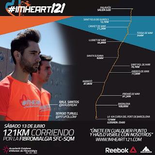 sergio turull raul santos imheart121 reto solidario 121km corriendo