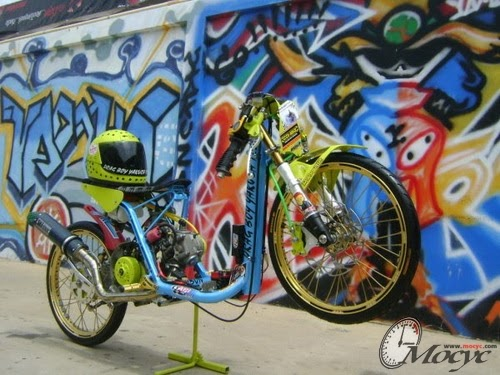 Modifikasi Motor Matic Matic Drag Bike Yamaha Mio