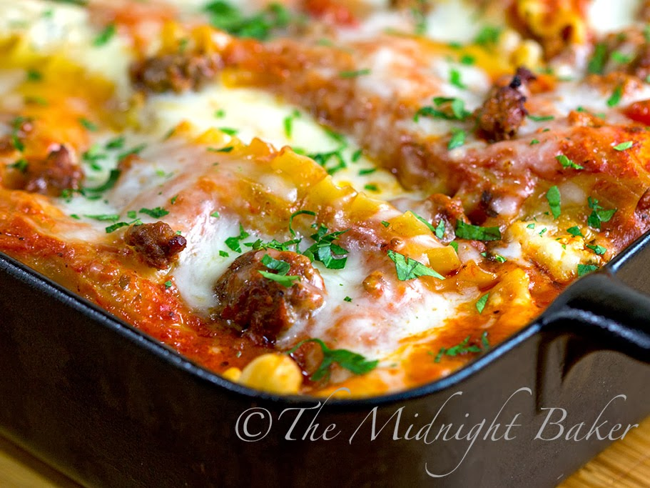Holiday lasagna the midnight baker holiday lasagna christmasevemeals lasagna pasta casseroles buffetfavorites forumfinder Image collections
