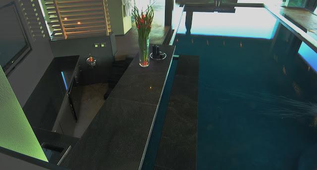Edge of the swimming pool