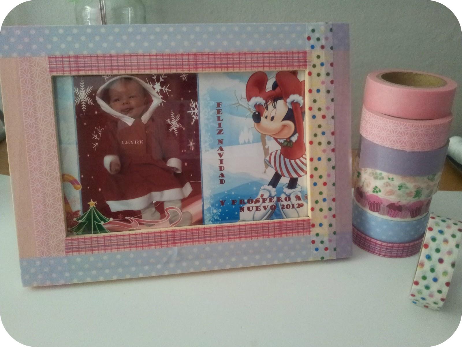 Tutorial c mo decorar un marco de fotos con washi tape - Como decorar con washi tape ...
