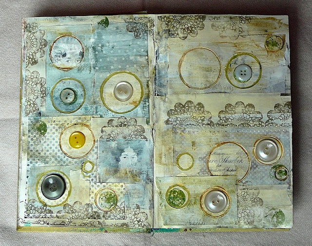 vintage wpis art journal