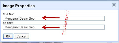 Cara Pasang Tag Alt dan Title di gambar