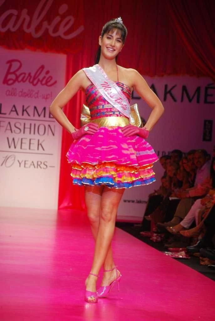 Katrina Kaif gestures as Barbie doll
