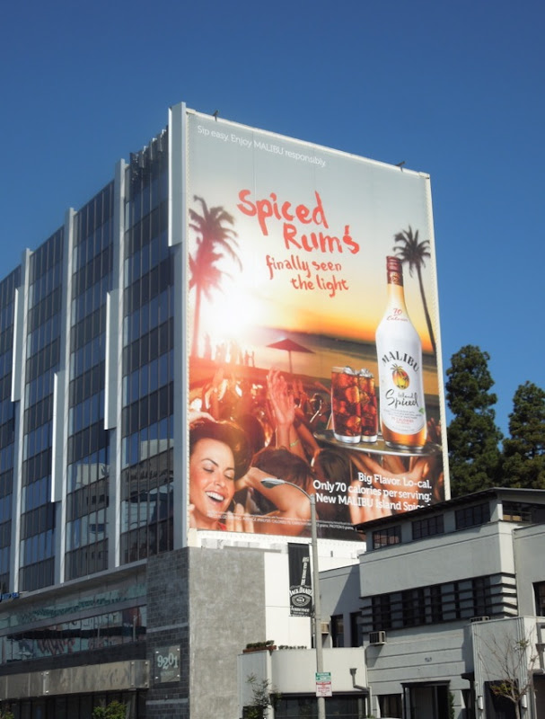 Spiced Rum Malibu billboard