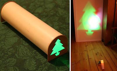 Manualidades de Navidad : Árbol de navidad proyectado