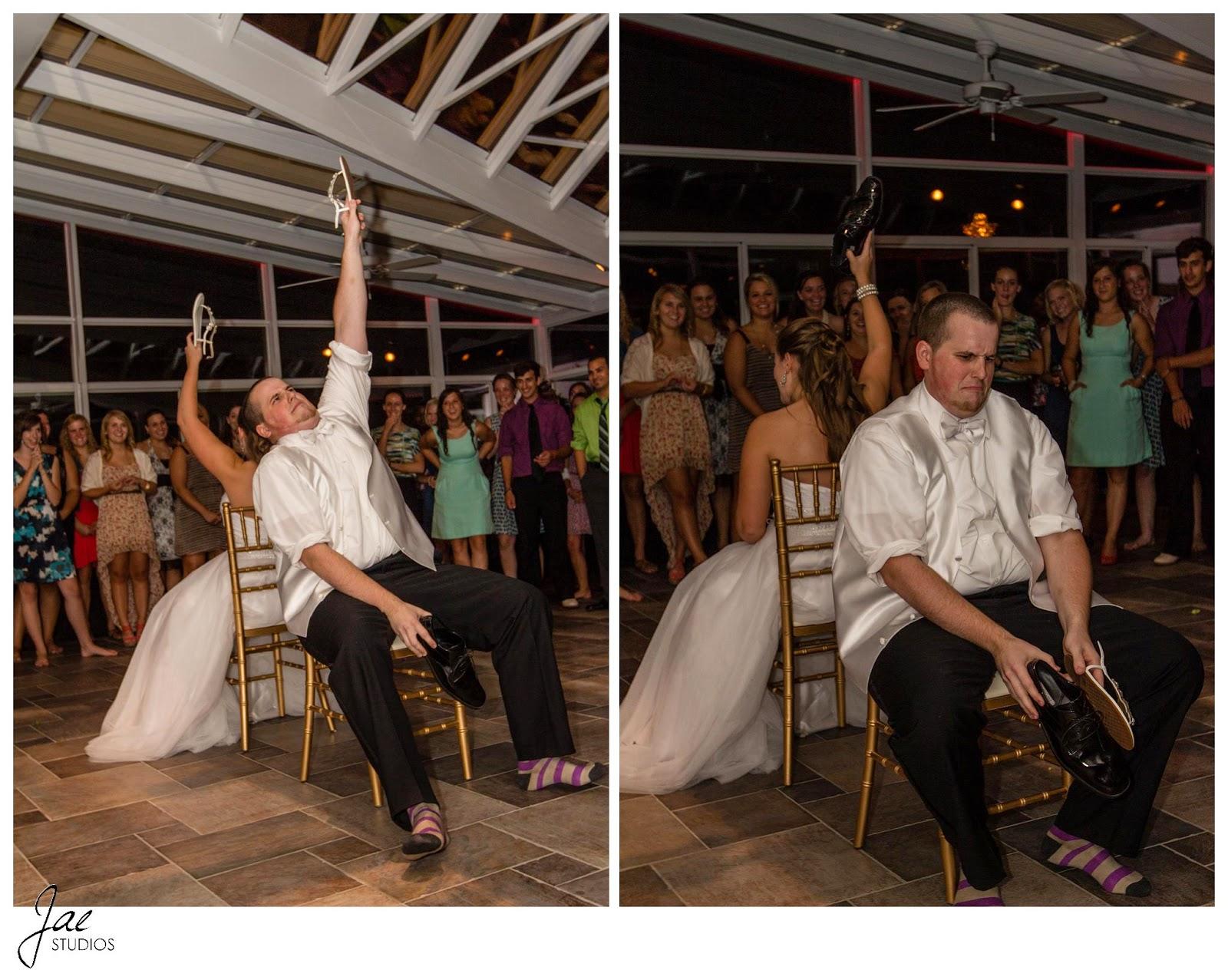 Jonathan and Julie, Bird cage, West Manor Estate, Wedding, Lynchburg, Virginia, Jae Studios, wedding, game, shoes, reception, bride, groom