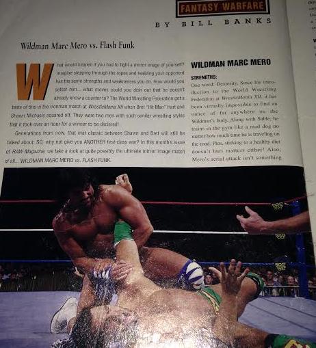 WWE - WWF RAW MAGAZINE 1997: Marc Mero vs. Flash Funk Fantasy Warfare